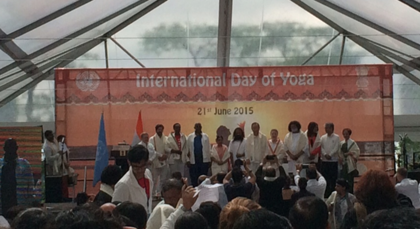 international yoga day dignitaries, United Nations
