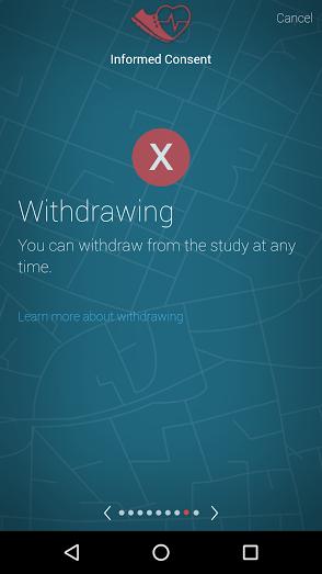HIPAA Researchkit withdrawal