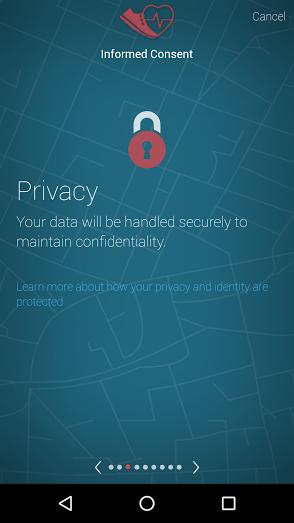 HIPAA data privacy researchkit